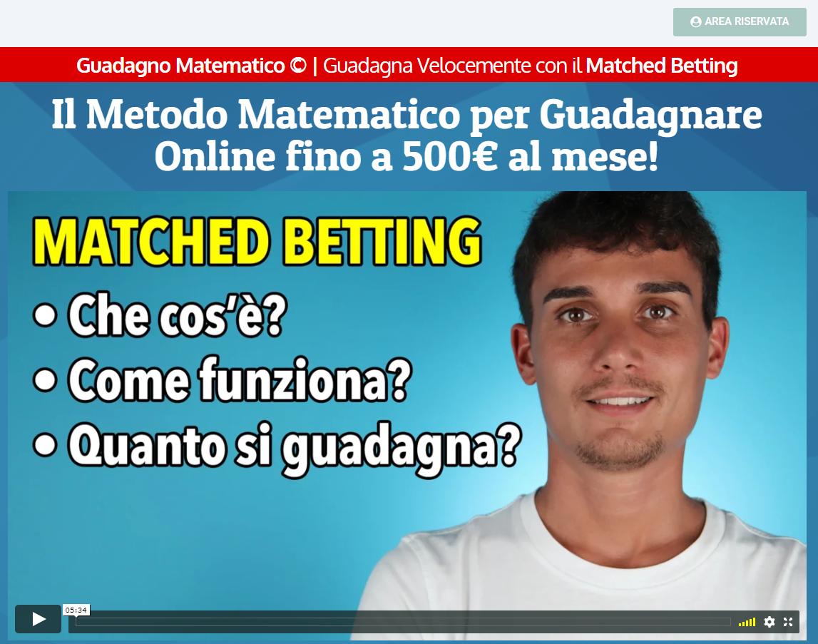 guadagno matematico - home page